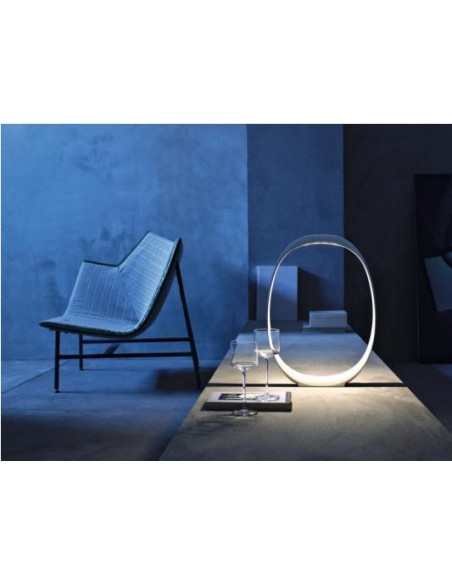 Salon avec la lampe de table Anisha Grande foscarini - Valente Design