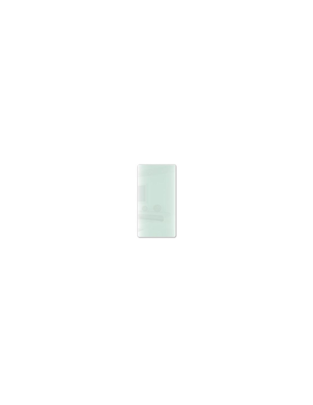 Radiateur Solaris vertical 1200W blanc brillant avec reflets vert de la marque Fondis - Valente Design