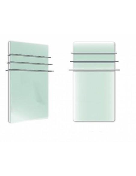 Sèche serviettes Solaris 1200w blanc brillant avec  reflet vert de la marque Fondis - Valente Design