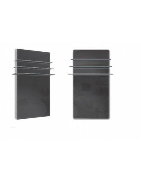 Sèche serviettes Solaris 1200w noir brillant de la marque Fondis - Valente Design
