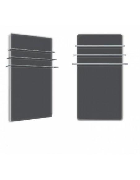 Sèche serviettes Solaris 1200w noir mat de la marque Fondis - Valente Design