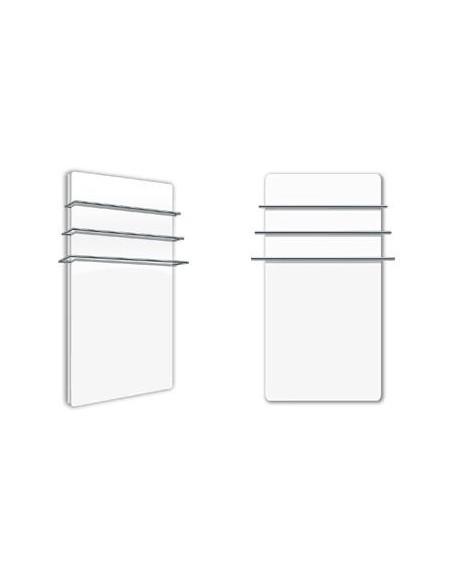 Sèche serviettes Solaris 550w blanc mat de la marque Fondis - Valente Design