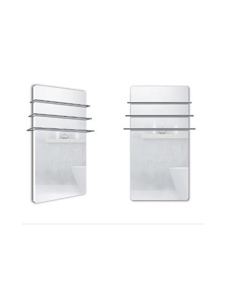 Sèche serviettes Solaris 550w effet miroir de la marque Fondis - Valente Design