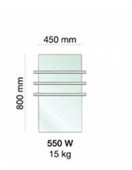 Tailles sèche serviettes Solaris 550w de la marque Fondis - Valente Design