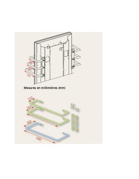 Dimensions sèche serviettes Solaris 550w de la marque Fondis - Valente Design