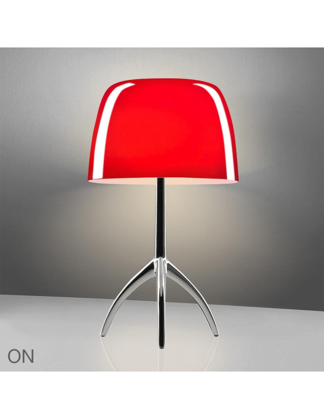 Lampe de table Lumière 05 Piccola Aluminium poli rouge