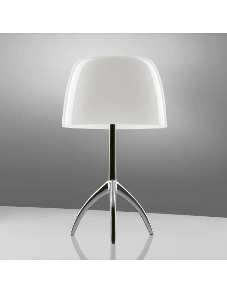 Lampe de table Lumière 05 Piccola Aluminium poli blan