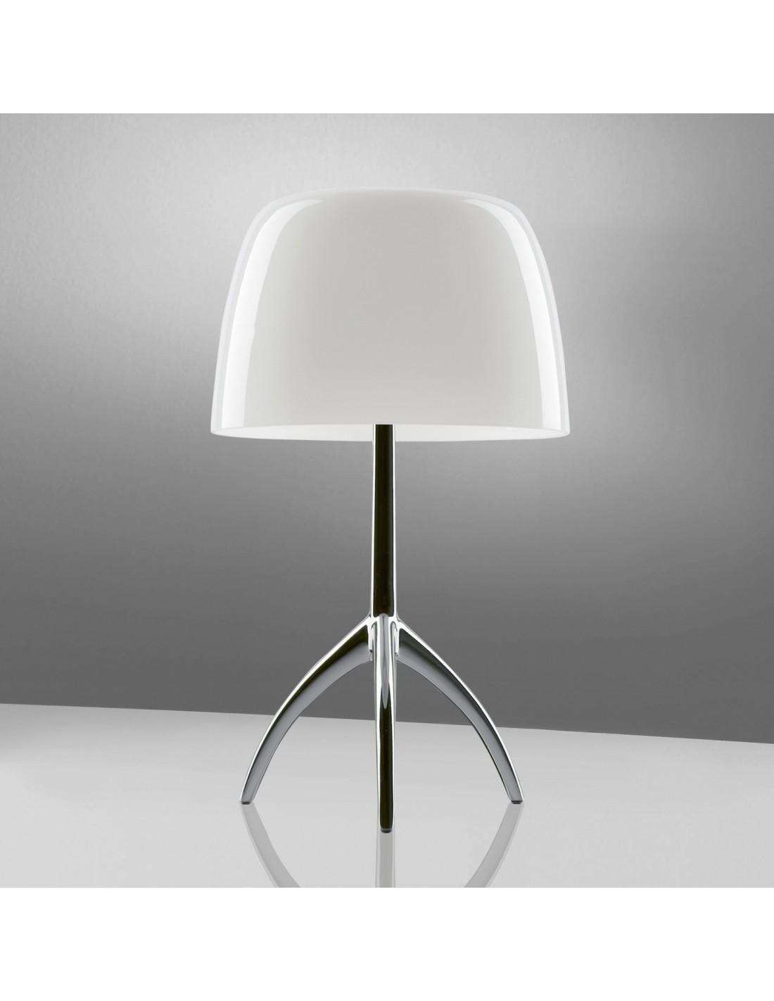 lampe de table lumi re 05 piccola aluminium poli blan. Black Bedroom Furniture Sets. Home Design Ideas