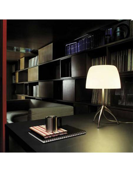 Lampe de table Lumière 05 Piccola Aluminium poli éclairée