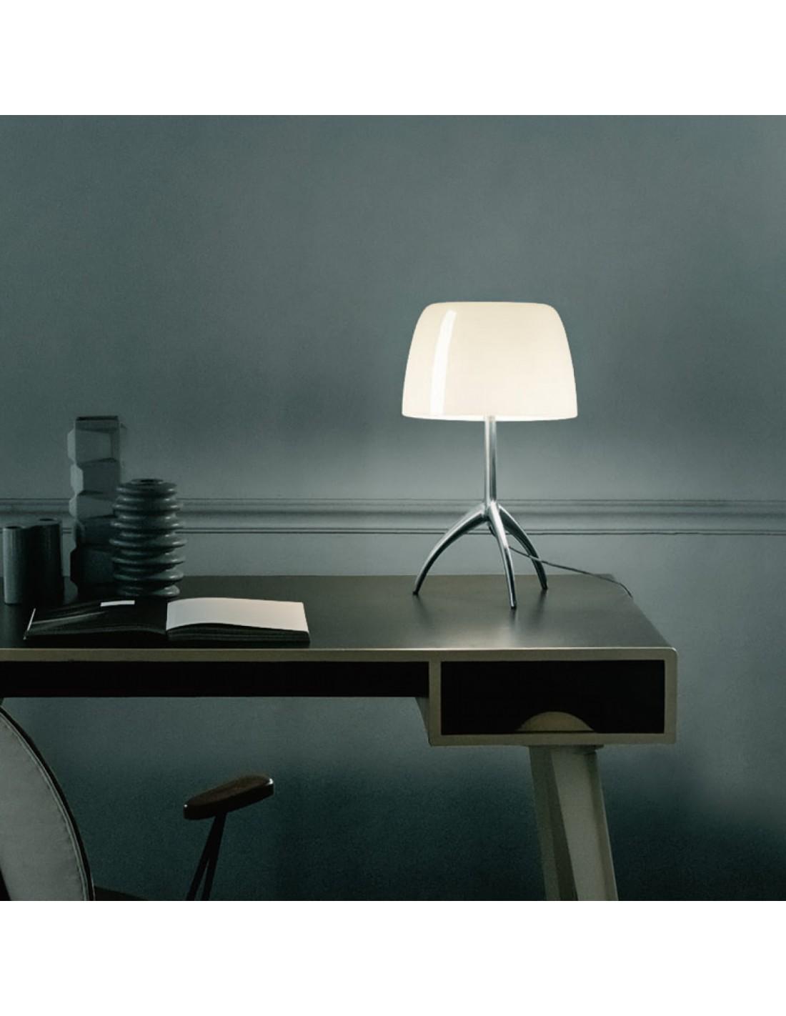 Lampe de table lumi re 05 grande aluminium poli - Fensterbank lampe ...