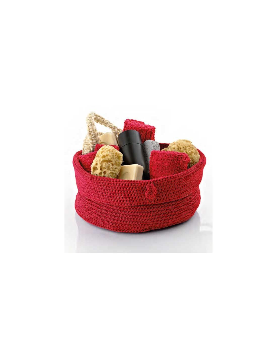 Corbeille Confetti moyen modèle rouge de la marque Zone