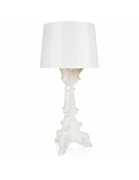 lampe de table bourgie cristal blanc pour la marque kartell. Black Bedroom Furniture Sets. Home Design Ideas