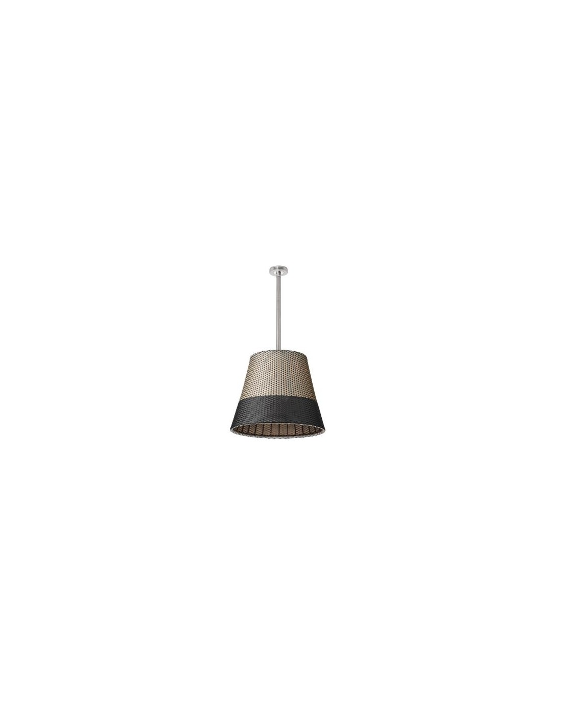 Éclairage avec la suspension Romeo C3 Outdoor H71cm grise/noire de la marque Flos faite par Philippe Starck pour Valente Design