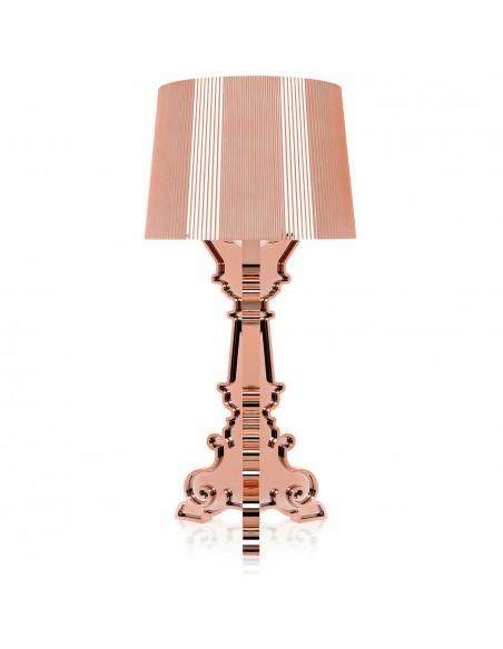 Lampe de table Bourgie Métallisée cuivre pour la marque Kartell
