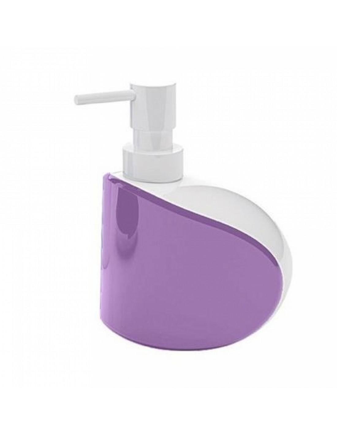 distributeur de savon liquide moby blanc lilas de la marque gedy. Black Bedroom Furniture Sets. Home Design Ideas