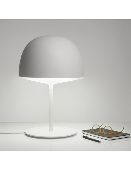 Lampe de table Cheshire blanc FontanaArte Valente Design GamFratesi Studio