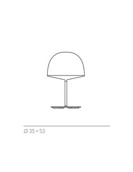 Lampe de table Cheshire plan dimensions FontanaArte