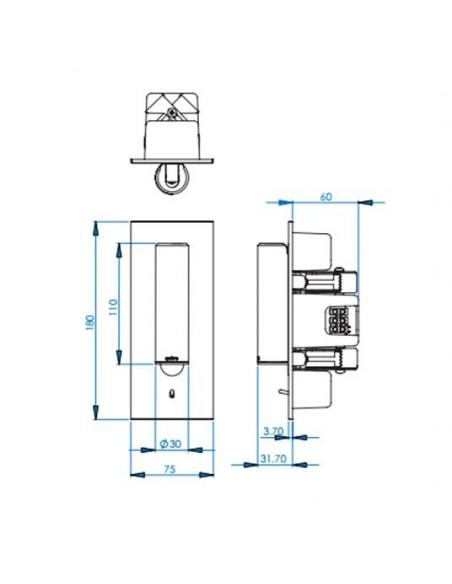 Applique Fuse Switched LED plan astro lighting - Valente Design
