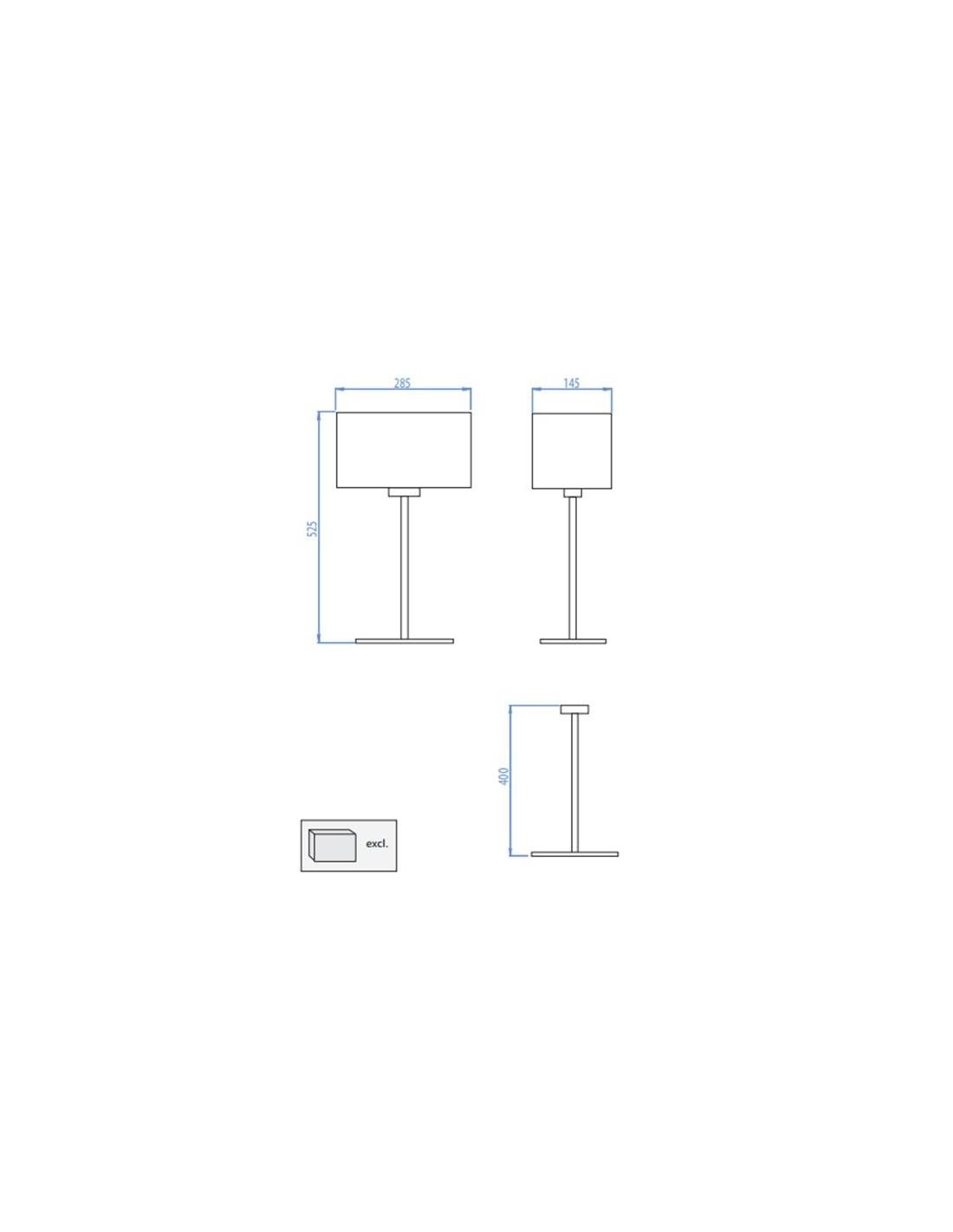lampe de table park lane finition chrome. Black Bedroom Furniture Sets. Home Design Ideas