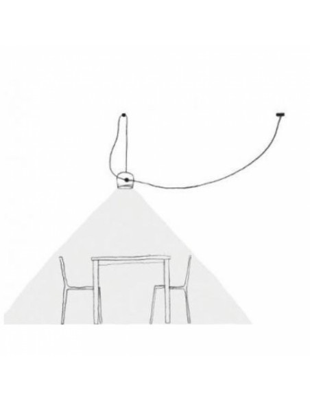Schéma installation suspension Aim flos Valente Design