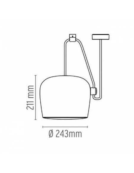 Suspension Aim 5 de flos plans et dimensions
