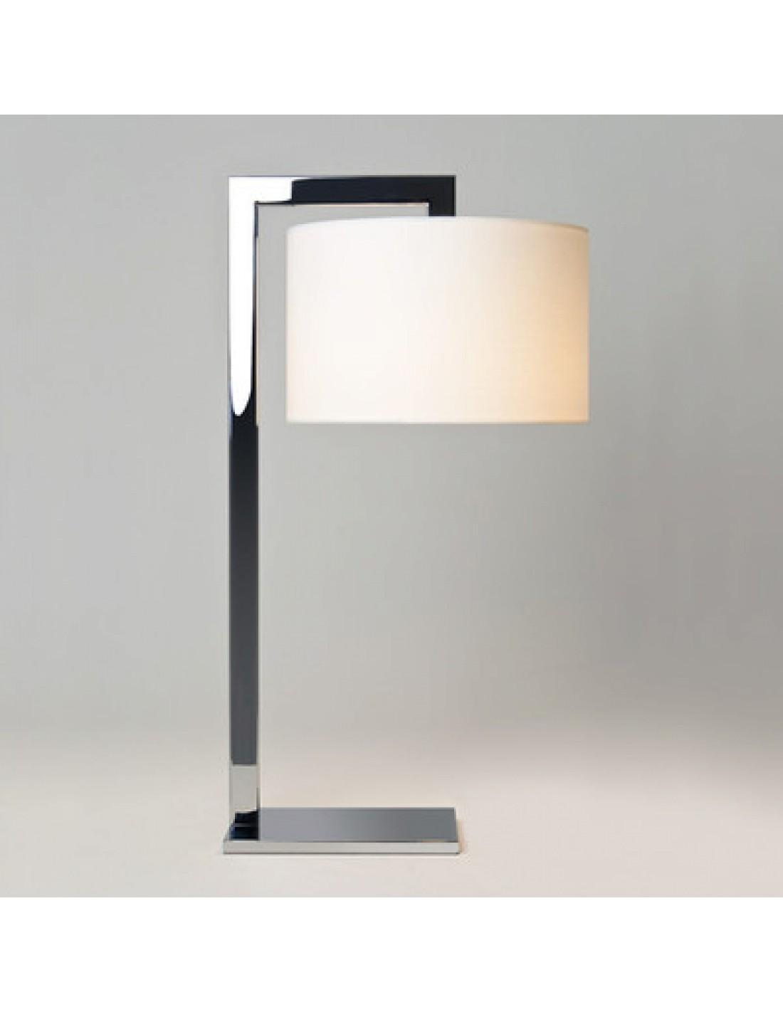 lampe de table ravello chrome et abat-jour blanc astro lighting Valente Design