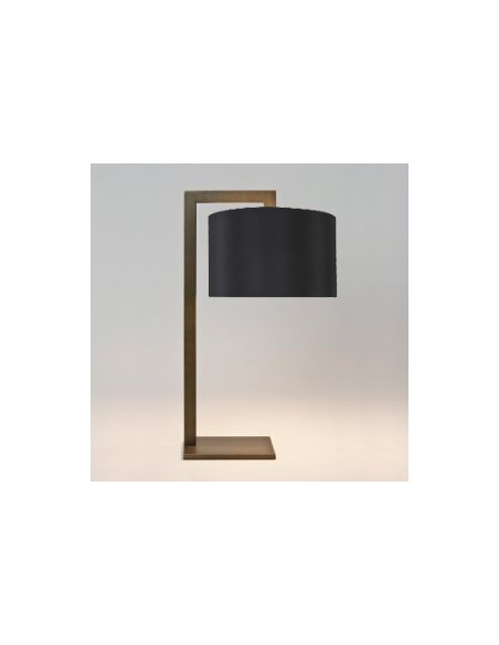 Profil lampe de table ravello bronze abat jour noir  astro lighting Valente Design