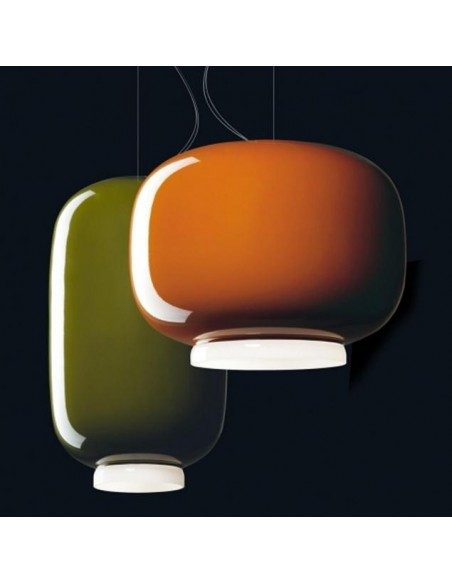Suspension Chouchin Mini 1 orange et vert foscarini