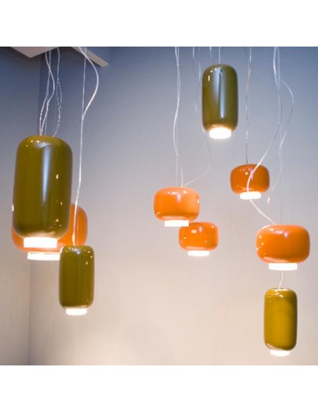 Suspension Chouchin Mini 1 orange foscarini