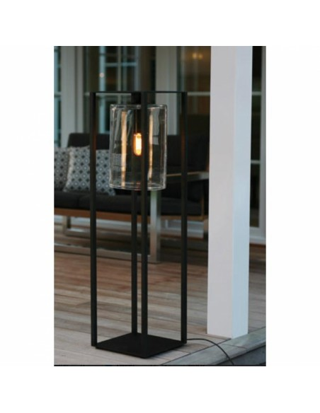 Lampadaire Dome Move noir transparent de la marque Royal Botania.