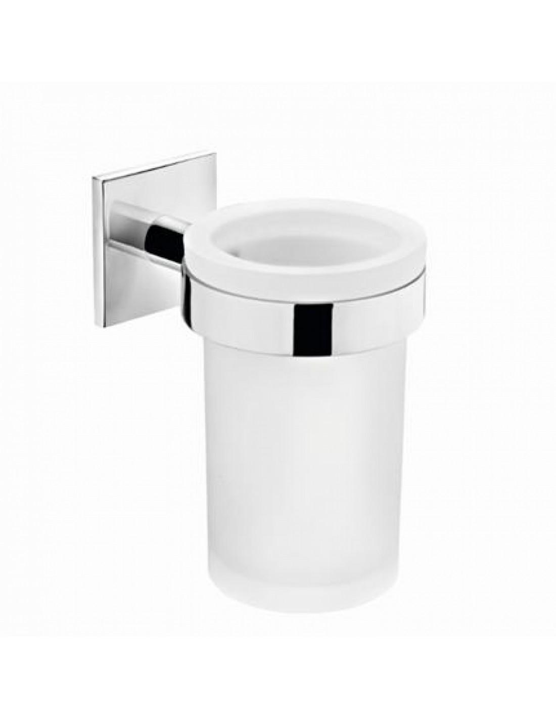 Porte brosse à dents verre à coller Duo Square par Bath+