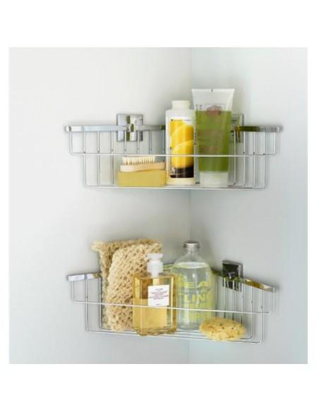Panier de douche d'angle à coller Duo Square par Bath+