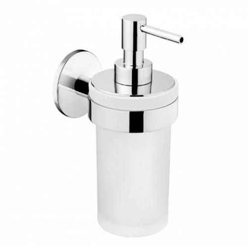 Distributeur de savon liquide mural verre à coller Duo Round