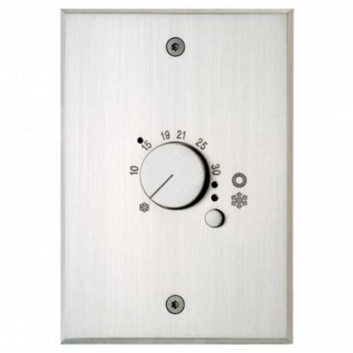 Plaque Rectangulaire Habillage Thermostat Nickel Brossé