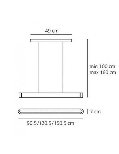 Suspension Artemide Talo 120 LED Dimmable schéma