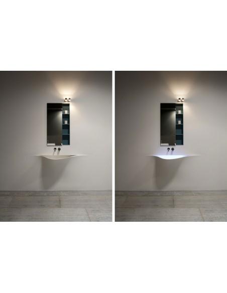 Vasque moderne silenzio LED par la marque Antonio Lupi - Valente Design