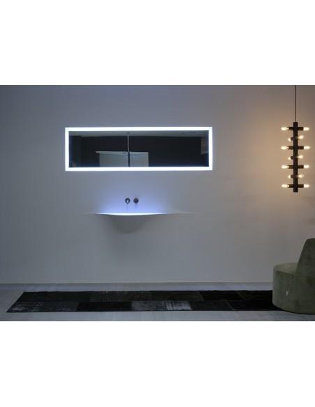 Lave-mains moderne silenzio LED dans chambre par la marque Antonio Lupi - Valente Design