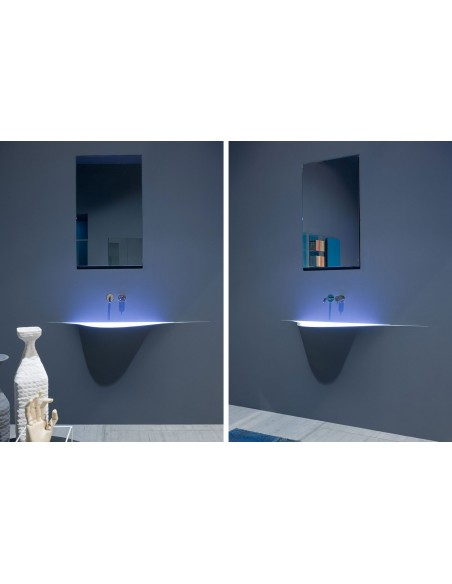 Lavabo futuriste silenzio LED par la marque Antonio Lupi - Valente Design