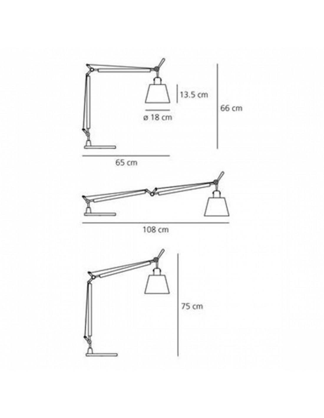 Lampe de table artemide tolomeo basculante plan - Table basculante cuisine ...