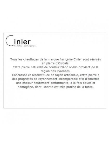 Cinier, marque française de chauffages et séches serviettes en pierre olycale Cinier - Valente Design
