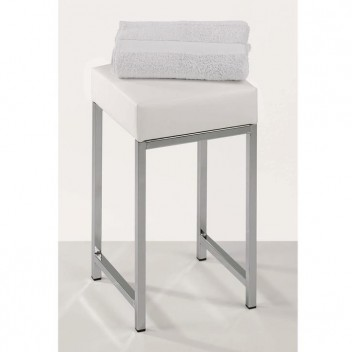 Tabouret carré Chrome