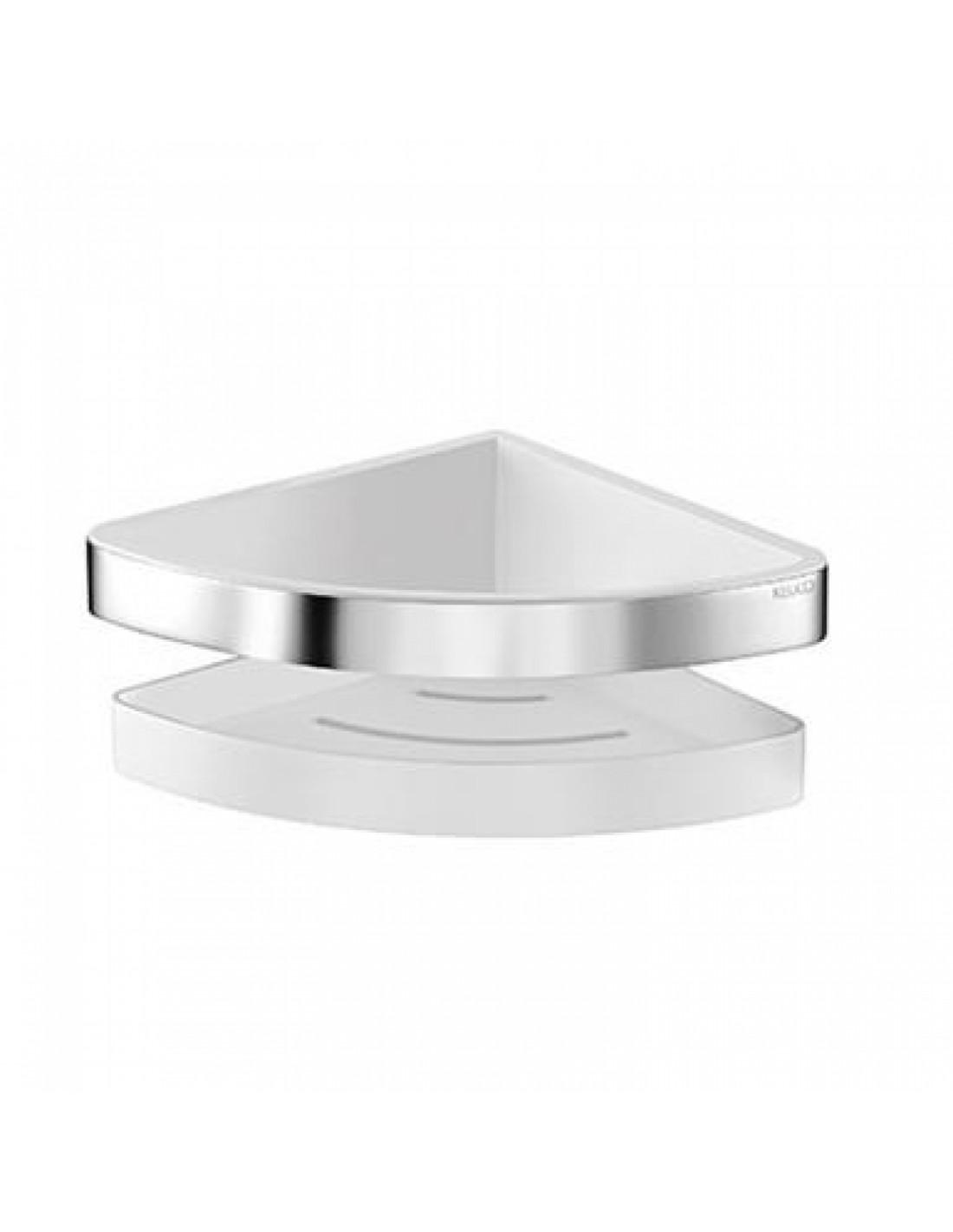 Retrouvez chez Valente Design le porte savon d'angle de douche de la collection Moll pour la marque Keuco