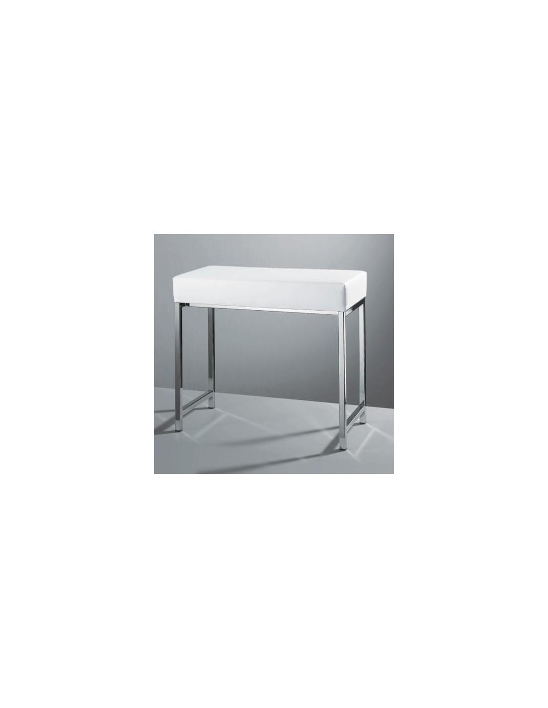 Banc rectangulaire blanc Decor Walther