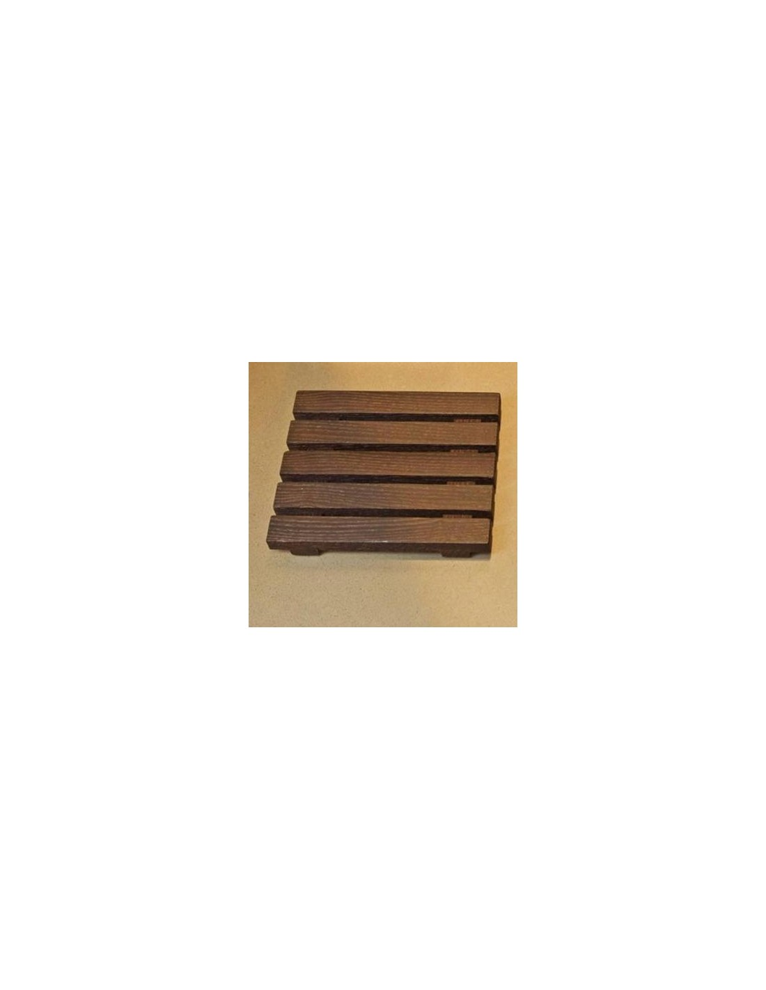 Porte savon Wood du bois naturel en frêne thermo huilé foncé  Decor Walther
