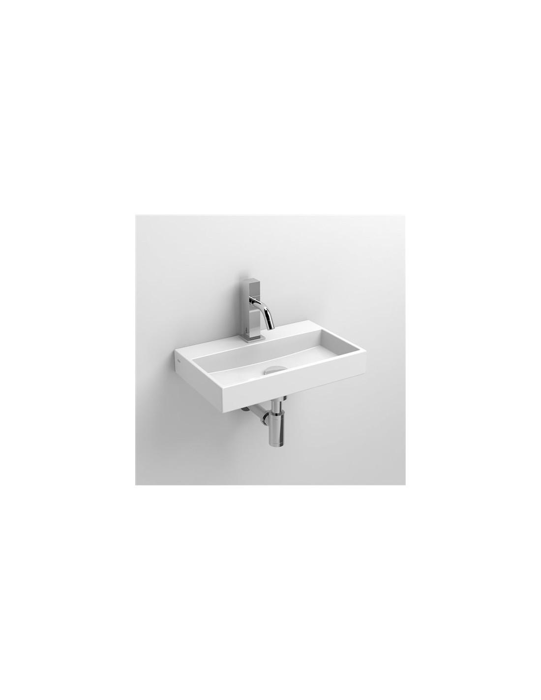 Lave mains 38 cm Mini Wash Me en céramique blanche pour la marque Clou