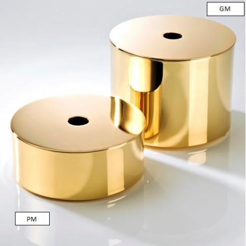 Boîte de rangement Mikado avec couvercle dorée grand modèle