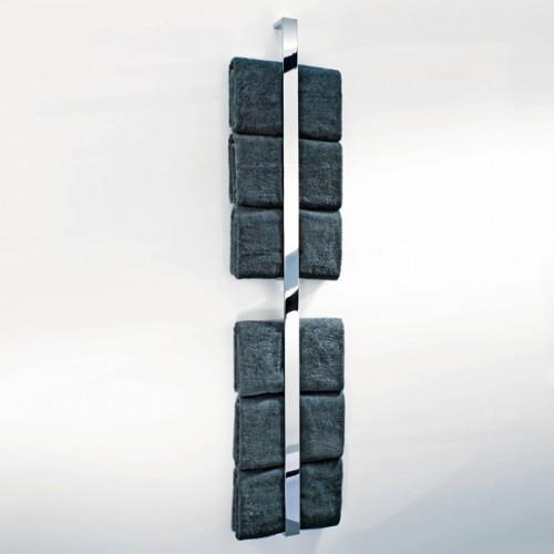 Barre porte serviettes verticale grand modèle Brick BK HL