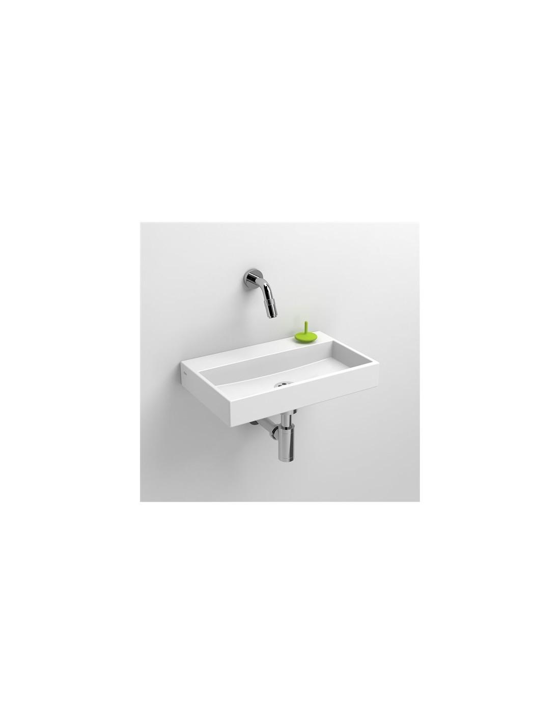 Lave mains 38 cm sans percement Mini Wash Me en céramique blanche pour la marque Clou
