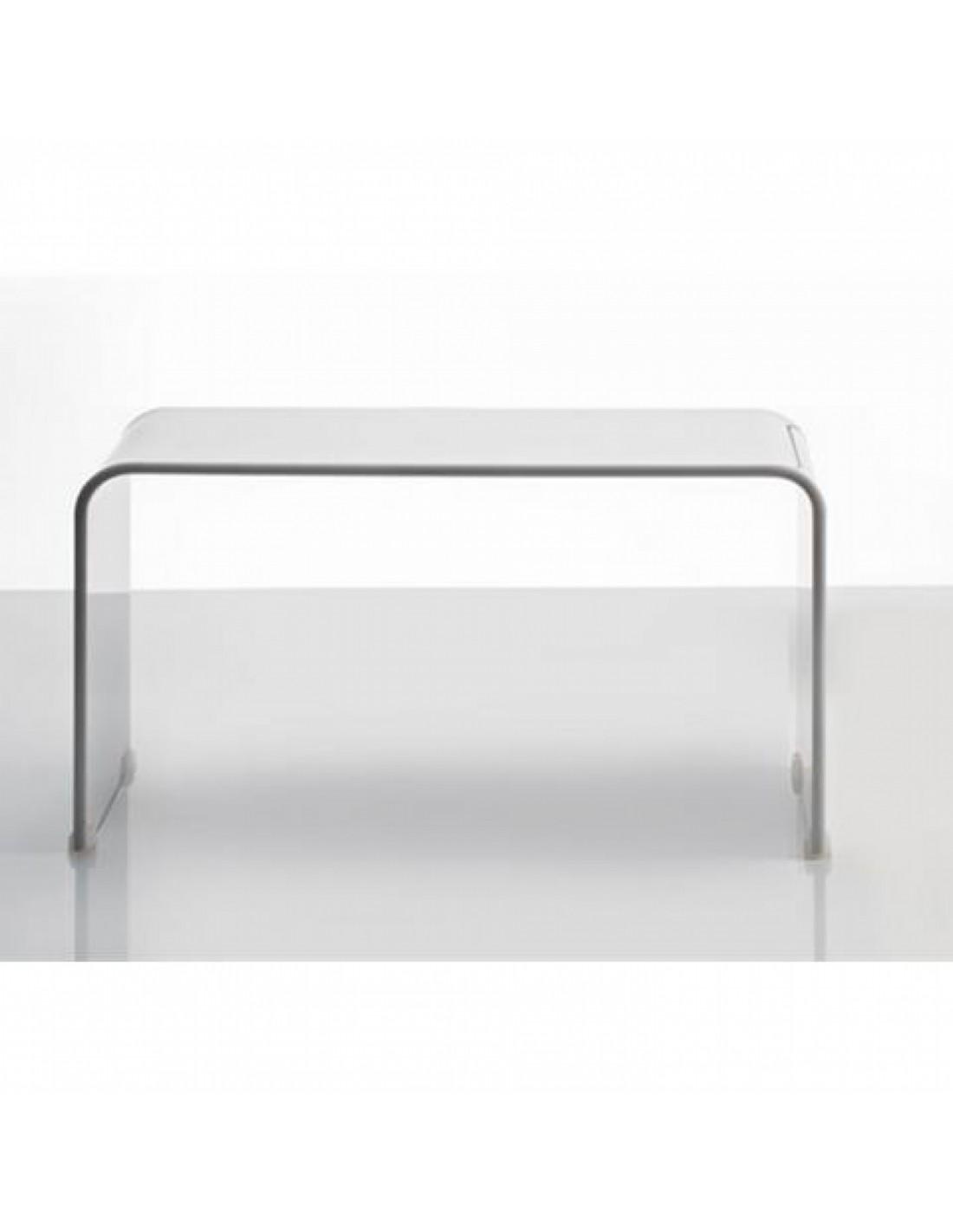 banc bain decor walther blanc en acrylique. Black Bedroom Furniture Sets. Home Design Ideas