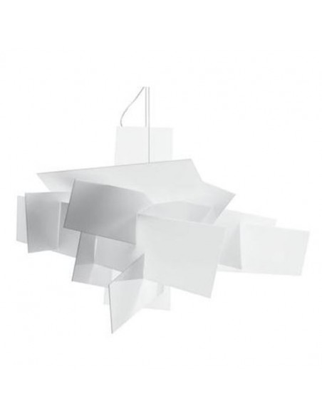 Suspension blanche Big Bang LED blanche
